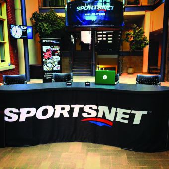QSIC's free agency simulation was sponsored by Sportsnet and took place in Goodes Hall last Saturday. Sportsnet also did a livestream broadcast of the event, with updates coming from the desk above.