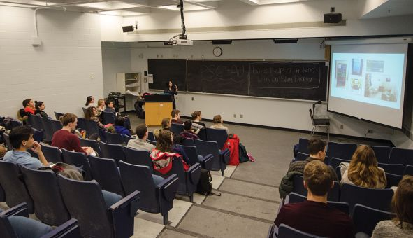 Speakers at the talk discussed how students can help friends with eating disorders.