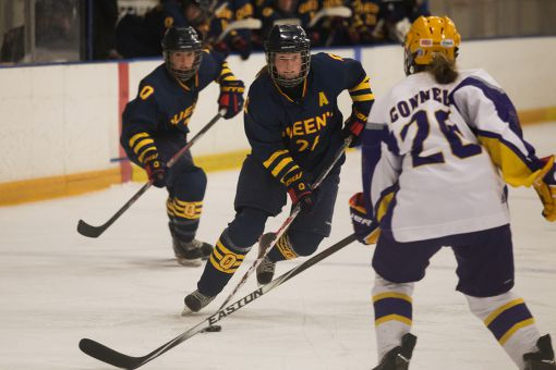 The Laurier Golden Hawks eliminated Queen's from the playoffs for the second straight season.