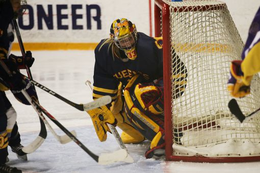 Netminder Caitlyn Lahonen backstopped the Gaels on the way to a third-place finish in the regular season standings.