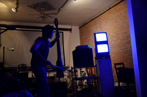 Trelnin was the first performer of the night at The Artel on Tuesday.