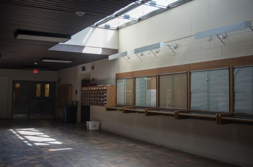 The hallways in Jeffrey Hall are poorly lit and lecture halls in lower levels are inaccessible to wheelchair users.