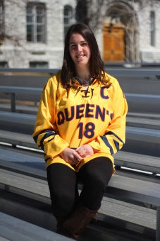 Women's hockey captain Shawna Griffin claimed two OUA titles in five years with the Gaels.