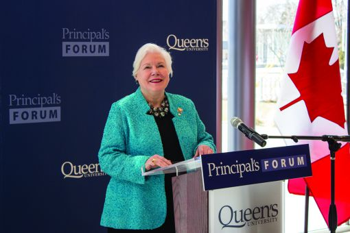 The Honourable Elizabeth Dowdeswell addresses the Principal's Forum.