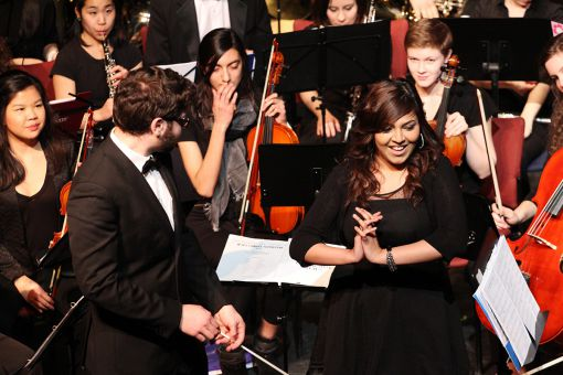 The group performed songs from The Phantom of the Opera and Les Miserables.