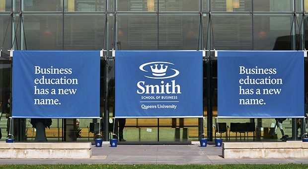 The new name of the Smith School of Business was unveiled at Goodes Hall on Thursday morning.