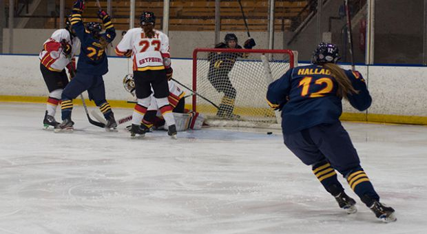 Addi Halladay (right) netted 12 goals in her rookie season.