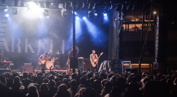 Arkells on stage during their performance at the ReUnion Street Festival on Homecoming this Saturday.