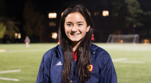 Kara Gani went from being unsure if she would make  the women's rugby team to being a starter in her first year.