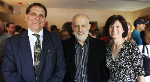Mike Condra (center), former Director of HCDS, at his retirement party earlier this year.