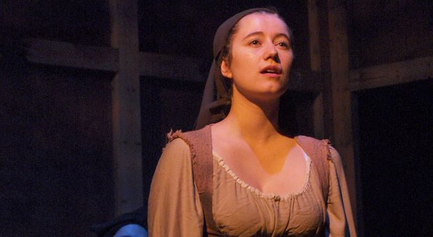 Maddy Scovil as Bertrande onstage during The House of Martin Guerre.