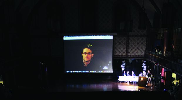 Queen's International Affairs Association's (QIAA) hosted a video conference with Edward Snowden on Thursday in Grant Hall.