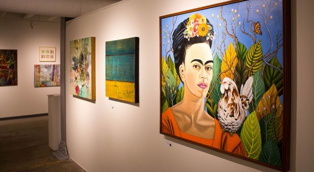 The exhibition by the Organization of Kingston Women Artists at Tett Centre.