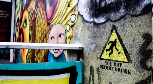 The line between graffiti art and public art can sometimes be a blurry one.