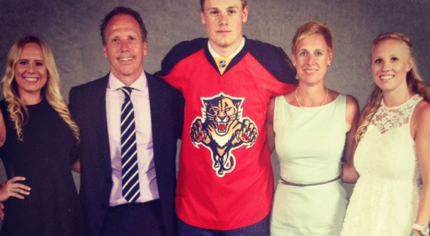 The Crouses: Kyla, Mike, Lawson, Kristen, and Sara at the 2015 NHL Draft.