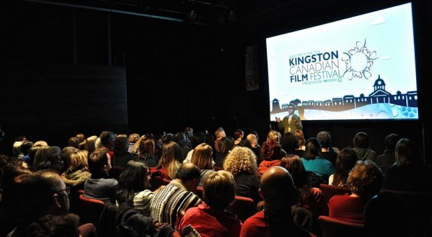 A screening at last year's Kingston Canadian Film Fest, which features newcomers in cinema and seasoned filmmakers.
