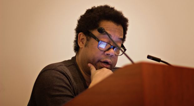 Andre Alexis, winner of the annual Scotiabank Giller Prize, appeared at the Agnes Etherington Art Centre to speak about his winning novel and his career.