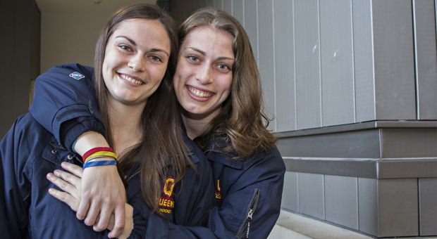 Amber (left) and Alisha Sealey have a combined 47 points in their careers for the Gaels.