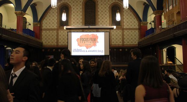 The gala and screening for this year's Focus Film Festival at Grant Hall.