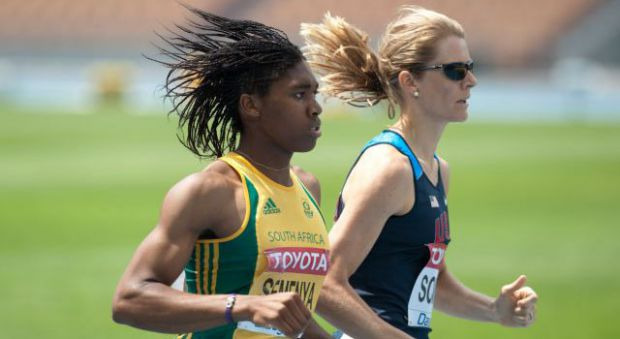 Caster Semenya (left) sparked talk on gender identity of athletes in 2009.