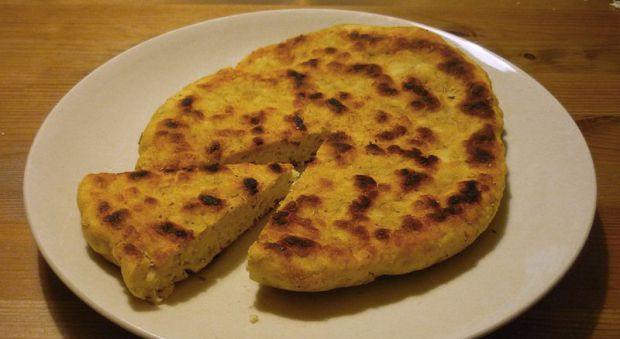 Bannock is a bread with a biscuit-like texture.