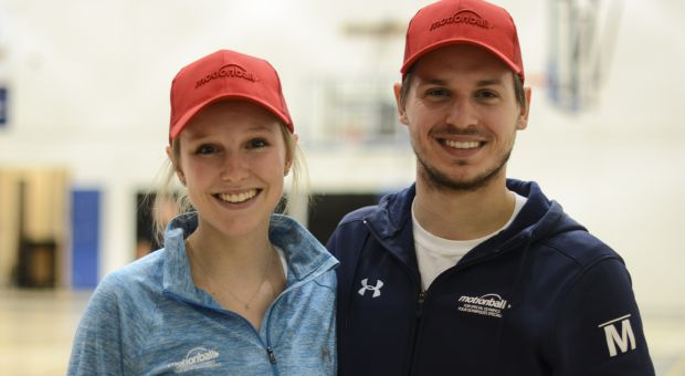 Sara Fischer (left) and Chris Szymus (right) are the co-chairs of Queen's motionball.