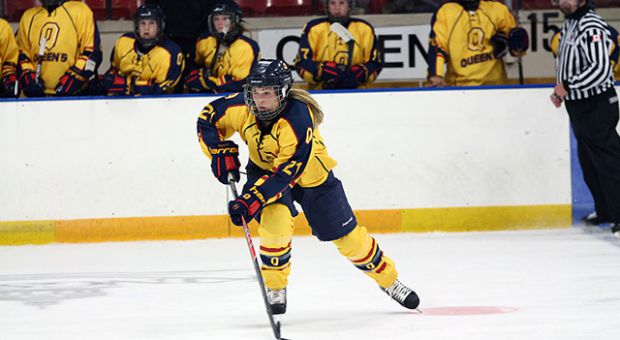 Morgan McHaffie was one of the greatest women's hockey players in Queen's history, with two OUA championships and 153 career points.