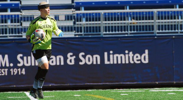 Madison Tyrell is the fifth-year keeper for the women's soccer team.