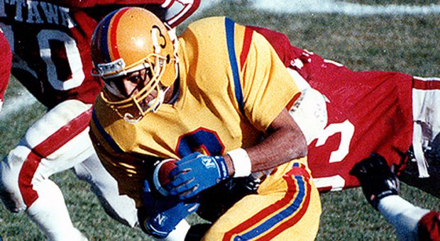 Jock Clime set the single-season CIS receiving record in 1988 with 1091 yards.