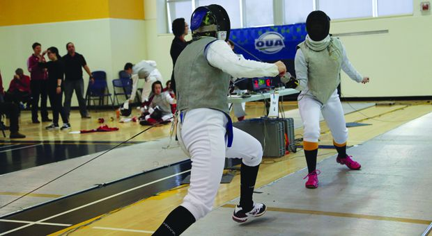 The women's fencing team placed third at the OUA Championships in the ARC this past weekend.
