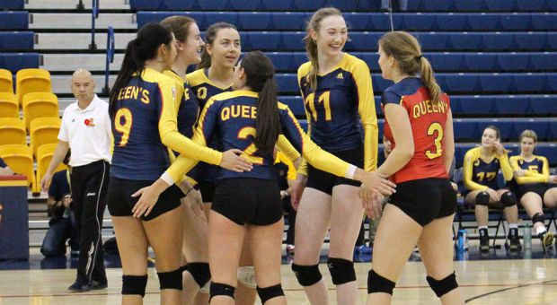 The women's volleyball team is 10-9 going into the OUA playoffs.