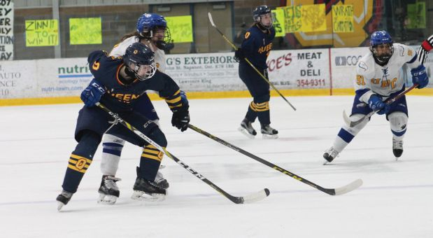 The women's hockey team lost 2-1 on Thursday night against number-one ranked UBC Thunderbirds.