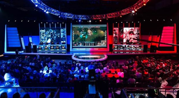 A League of Legends tournament played in front of a live audience.