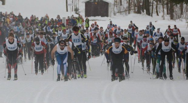The Nordic Skiing team in action.
