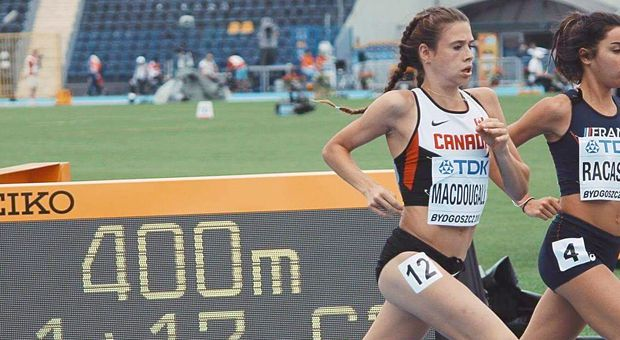 MacDougall running for Team Canada.