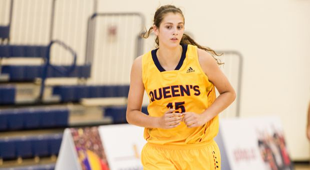 Veronika Lavergne averages an OUA-high 2.1 blocks per game.