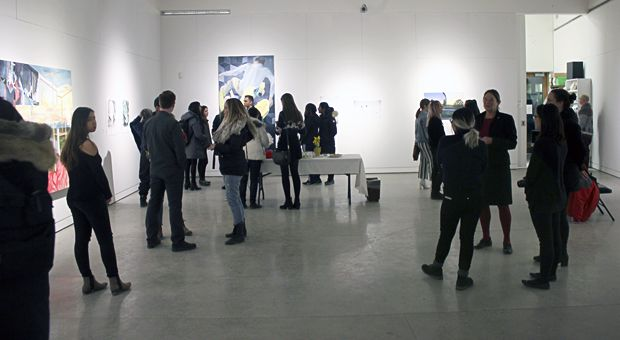 The opening attracted a respectable crowd.