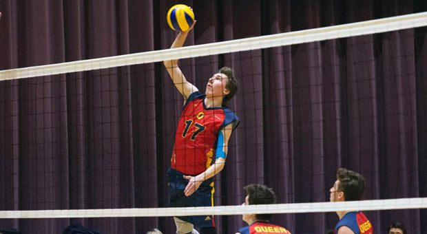 The men's volleyball team will play Ryerson on Friday in Hamilton.