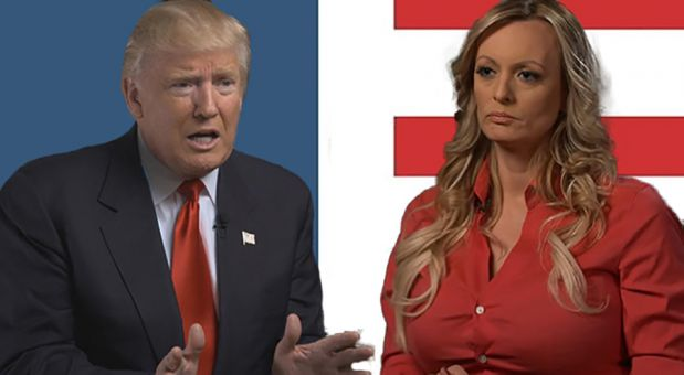 Trump denies knowing about hush money payment to porn star Stormy Daniels