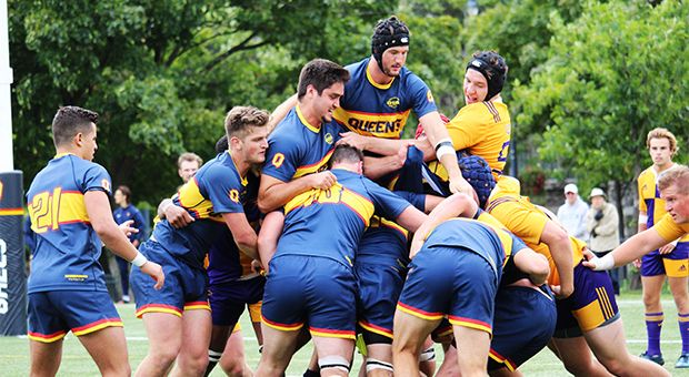 The men's rugby team dominated the University of Toronto this weekend, winning 97-8.