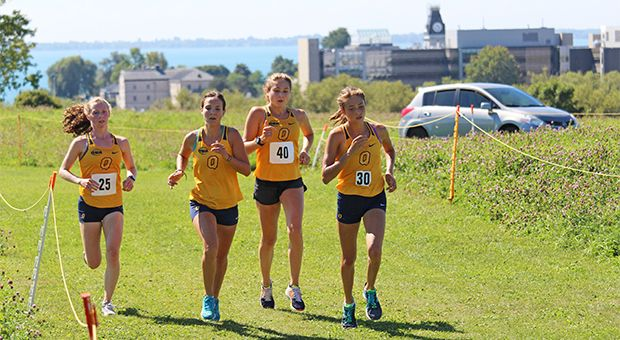 Rookie Makenna Fitzgerald (second from left) finished third at this weekend's Western Invitational.