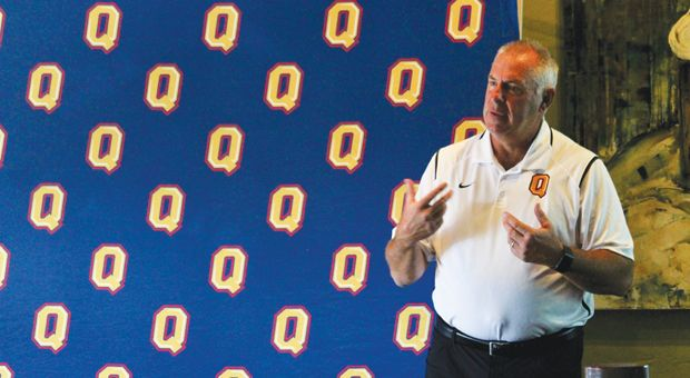 Pat Sheahan spoke to season ticket holders on Thursday ahead of Saturday's game against Western.