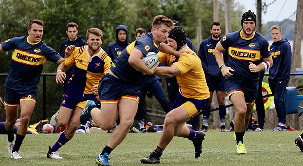 The men's rugby team beat rival Guelph 40-13 this weekend.