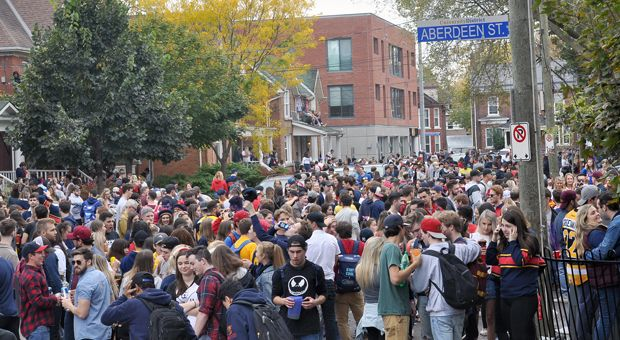 Homecoming crowds numbered 10,000 this year.