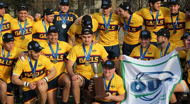 The men's rugby team have won back-to-back OUA championships.