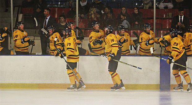 Men S Hockey Sweep Weekend Series Win Fourth Straight Game The