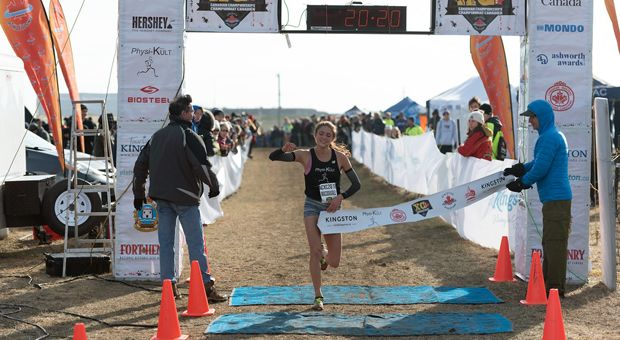 Brogan MacDougall won the women's under-20 Canadian Cross Country Championships.