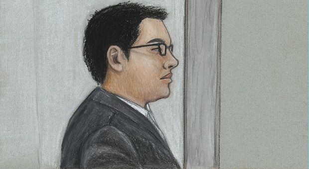 Zijie Wang at Tuesday's sentencing.