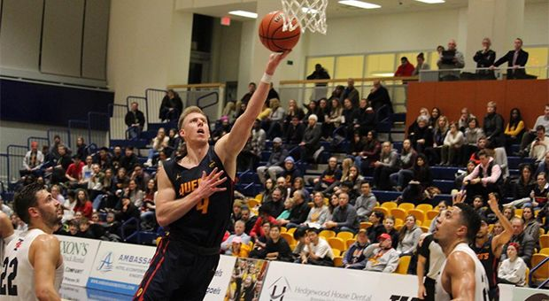 Third year Harry Range had five points and five rebounds in Saturday's loss to U of T.