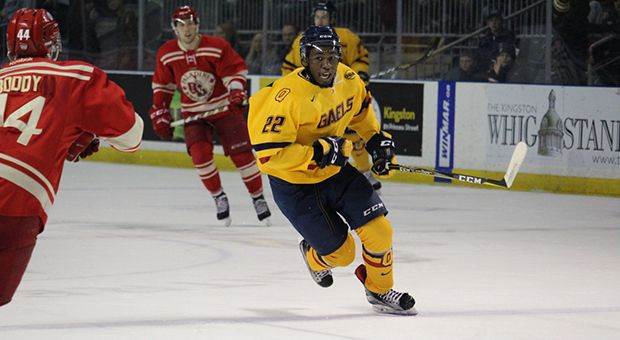 Forward Jaden Lindo had an assist in Saturday's game against McGill.
